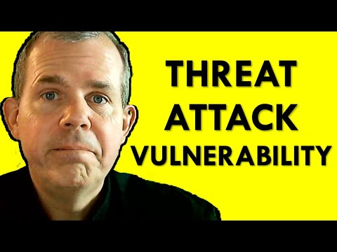 Information Security – What are threats vulnerabilities and attacks?