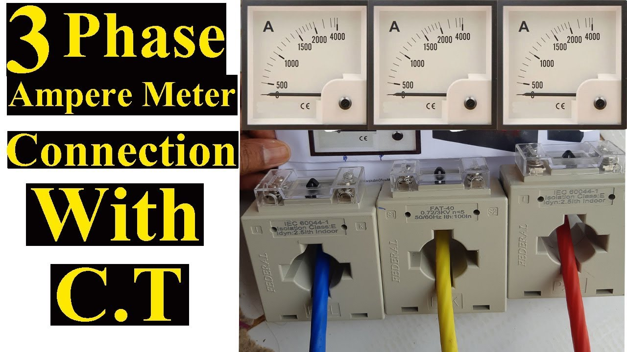 Electrical Meter Current Transformer Wiring Diagram