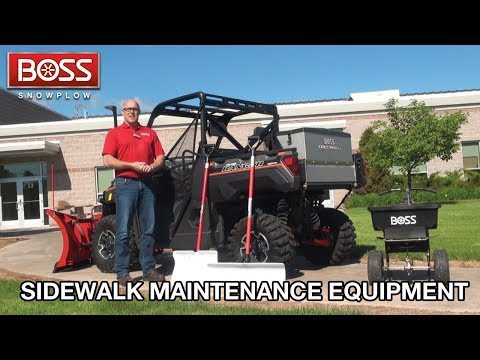 Sidewalk Maintenance Equipment | BOSS Snowplow |