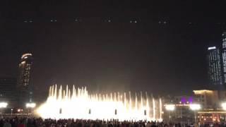 dubai fountain before 2017 new year fireworks