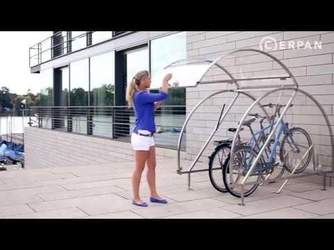 Fahrradgarage Cerpan Fur 1 4 Fahrrader Youtube