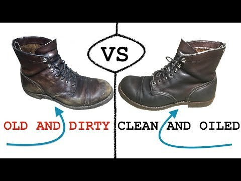 How to clean and recondition leather boots (red wings)