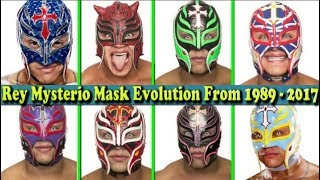 Download Video WWE Rey Mysterio (Giant killer) Mask Evolution From 1989 To 2017 MP3 3GP MP4