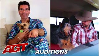 Simon Cowell Makes His Dog Judge The SINGING DOG Audition On @America's Got Talent from Home