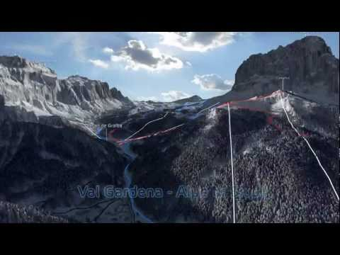 il carosello sciistico Dolomiti Superski in 3D