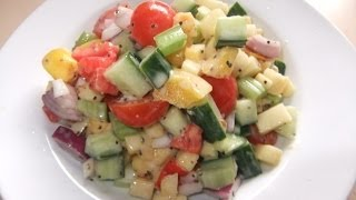 Mixed Vegetable Salad With Honey Mustard Dressing