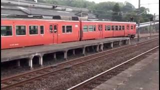 お盆夕方の安来駅 列車まとめ (2015/8/15)