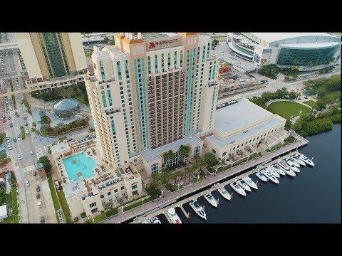 Wedding By Drone Marriott Waterside Tampa Riverwalk