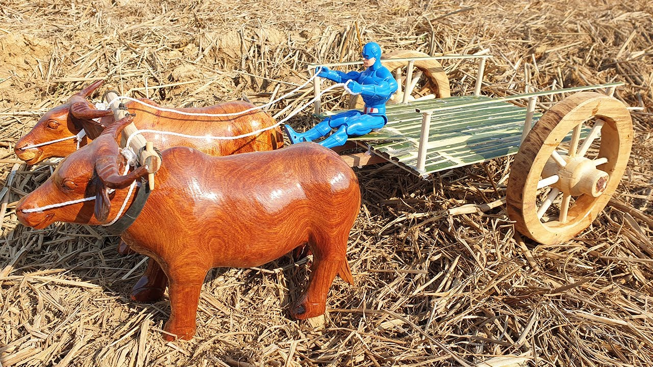How To Make Buffalo Bullock Cart With Bamboo - Amazing DIY Woodworking Projects