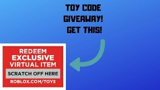 ROBLOX TOY CODE GIVEAWAY! ROBLOX GIVEAWAYS!
