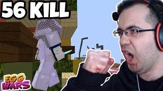 56 Kill ile EFSANE ÖTESİ OYUN! ORTANIN TEK HAKİMİ | Minecraft Egg Wars