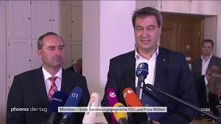 Statements zur Sondierung der CSU und der Freien Wähler am 17.10.18