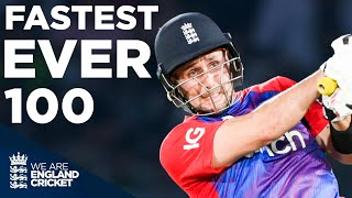 Liam Livingstone Smashes England's Fastest EVER T20I 100 Off Just 42 Balls | England v Pakistan 2021