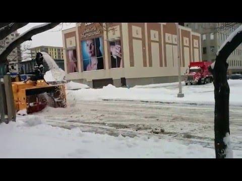 Snow Removal - уборка снега с улиц спец техникой.Montreal-Laval-Quebec-Canada.