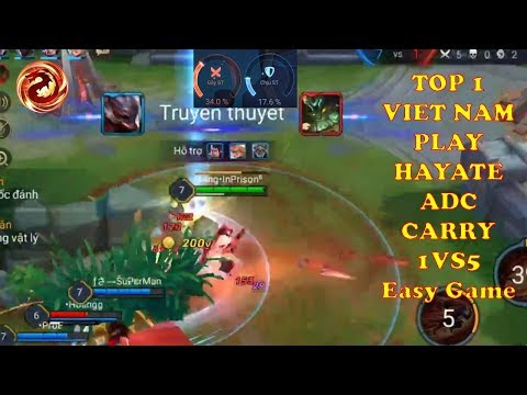 TOP 1 VN PLAY HAYATE ADC CARRY | VIETNAM CHALLENGER | ARENA OF VALOR
