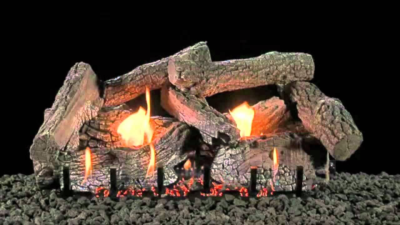 charleston select 24 inch log set on slope glaze burner by