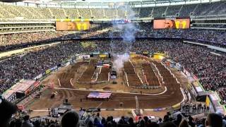 National Anthem Metlife Stadium 2016 supercross