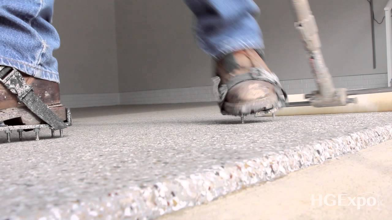 is epoxy garage floor coating slippery