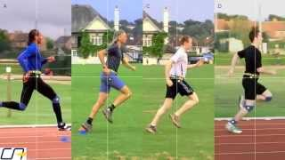 Study of Sprinters' and Distance Runners' Leg Action