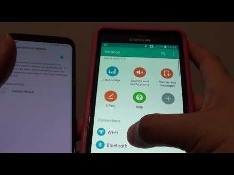 Samsung Galaxy S8: How To Share An Internet Connection Via Bluetooth Tethering