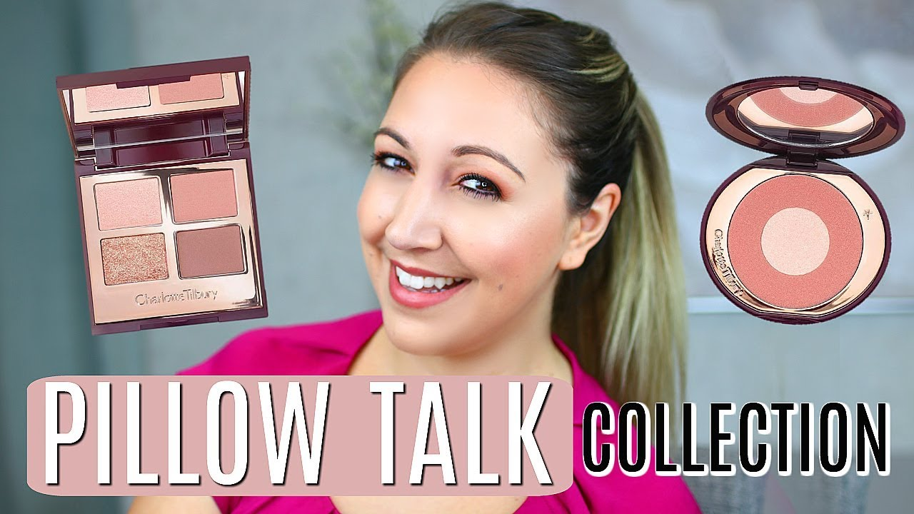 new charlotte tilbury pillow talk collection swatches review