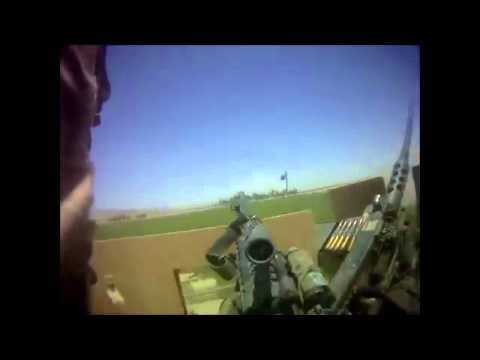 Soldier mows down Taliban fighters with M249 after M2 (.50 cal) malfunctions