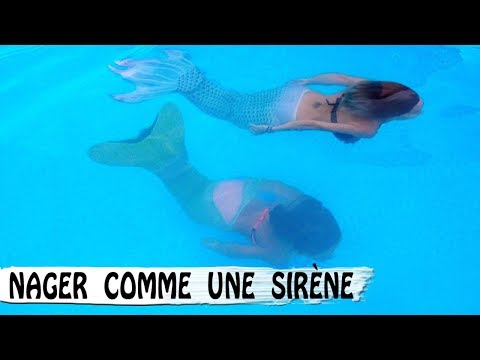 DES SIRÈNES DANS LA PISCINE / Comment Nager Comme Une Sirène / Family Vlog