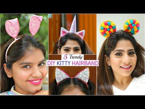 5 Trendy DIY KITTY Hairbands for TEENAGERS ..   #Headband #Anaysa #DIYQueen