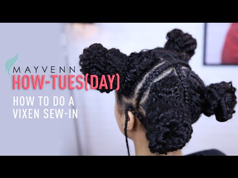How To Do A Vixen Sew In W Curly Hair YouTube