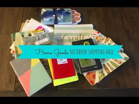 Home Goods Notebook Haul #1