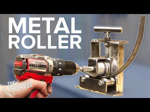 Drill powered metal roller bender - DIY Roller Bender