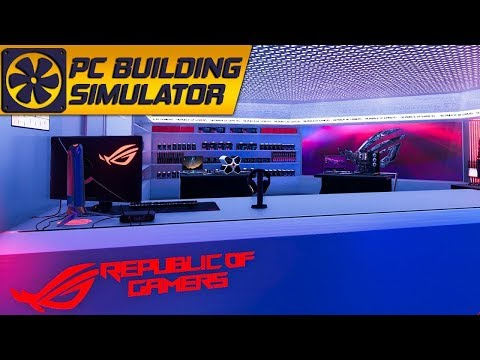 The ROG themed build in PC Building Simulator |