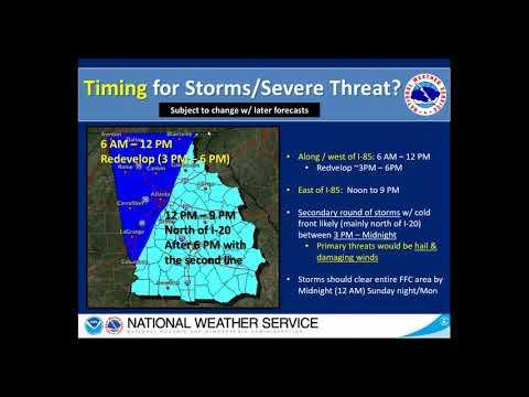 2019.04.13 2 PM  NWS Atlanta  Special  Weather Briefing