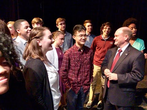 Delaware students talk school shootings with U.S. Sen. Chris Coons