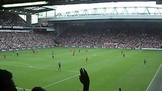 """ARSENAL fans sing """"She said no Robin"""" at Anfield"""