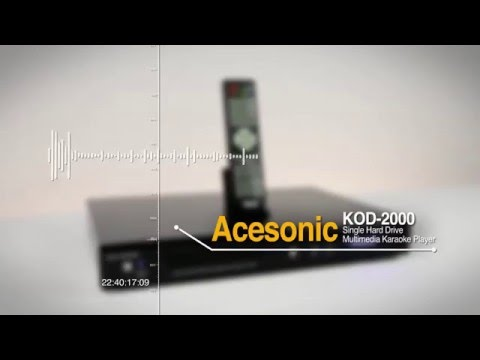 Acesonic KOD-2000 Single Hard Drive Multimedia Karaoke Player