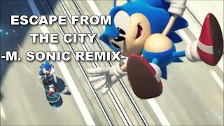 [SONIC KARAOKE] Sonic Generations - Escape from the city ~MSR~ (Ted Poley & Tony Harnell) [HD]
