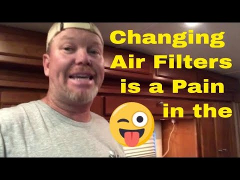 Changing The Air Filter Rv Diesel Pushers Freightliner Chassis