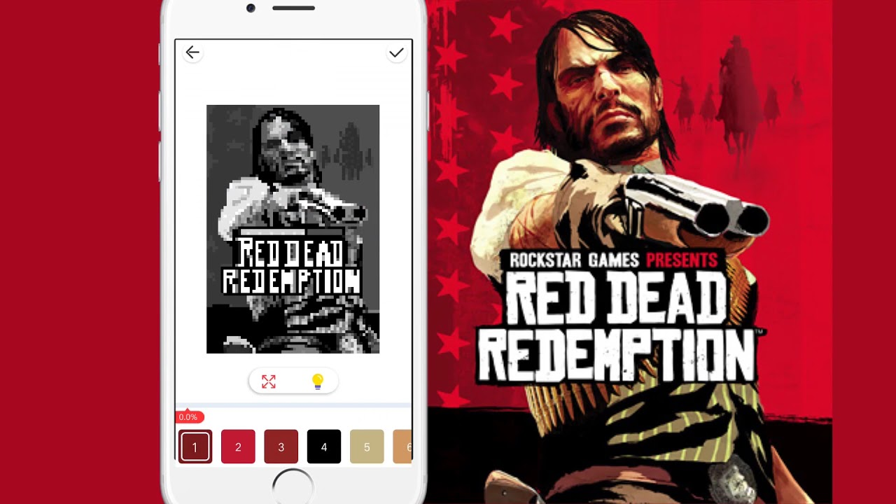 Kolor-Color by number-Red Dead Redemption