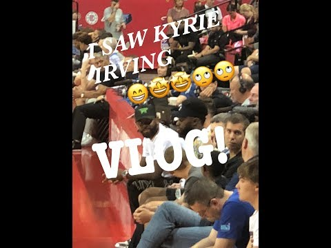 I SAW KYRIE IRVING AT THE BOSTON CELTICS VS NEW YORK KNICKS SUMMER LEAGUE GAME! VLOG!