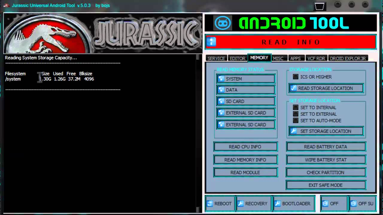jurassic uniandroid pour windows 7