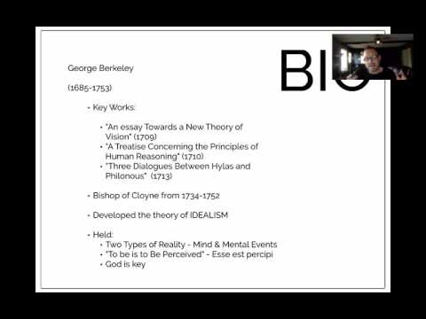 The Idealism of George Berkeley