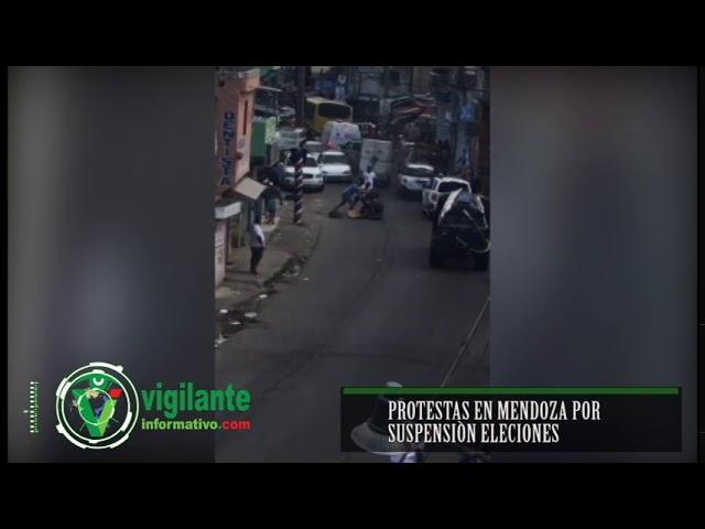 Protestas en Mendoza por suspensión de Elecciones