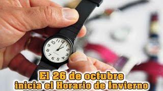 México: 26 de octubre el cambio de horario