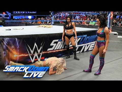 Billie Kay and Peyton Royce attack Charlotte Flair: SmackDown LIVE, April 10, 2018