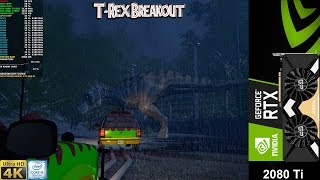 Jurassic Park T.Rex Breakout Demo Very High Settings 4K | RTX 2080 Ti Z i9 9900K 5.1GHz