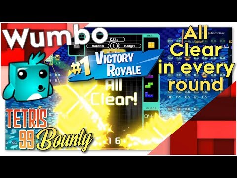 """Tetris 99 Bounty - """"All Clear in every round"""""""