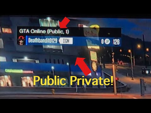 How to Make a Public Private/Solo Session [Xbox One] (GTA V Online)