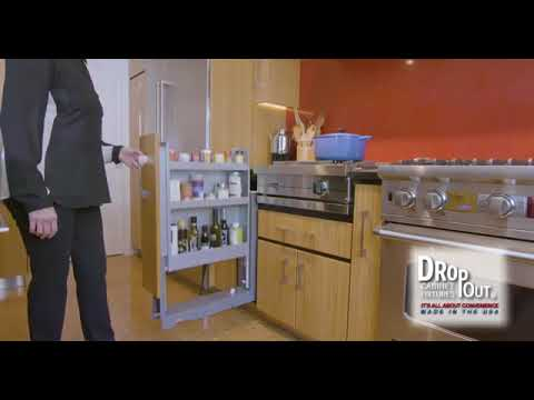 Dropout Cabinet Fixtures Cabinet Pull Out Storage Component |  KitchenSource.com