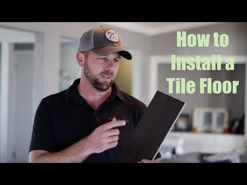 How To Install a Tile Floor (Wood Looking Tile)